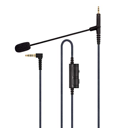 Cable Boom Microphone - Volume Control for Playstation PS4 or Xbox One Controller, PC - Boompro Gaming Mic Compatible with Bose QC25, QC35 II, QC35, QuietComfort 25/35 Headphones(150CM)