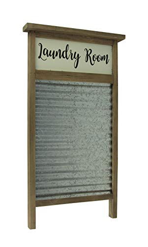 Direct International Wood and Metal Vintage Washboard Laundry Room Wall Hanging