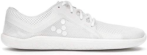 Vivobarefoot Primus Lite, Mens Vegan Light Movement Breathable Shoe with Barefoot Sole White