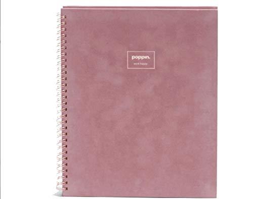 Poppin Velvet Large Spiral Notebook, Dusty Rose