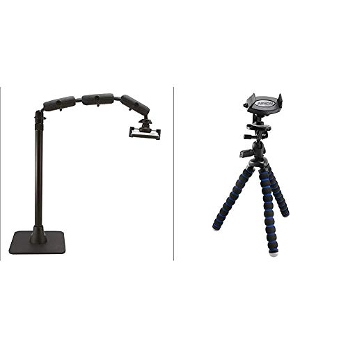 Arkon Pro Phone Stand Black Retail - HD8RV29 & iPhone Tripod Mount for iPhone X iPhone 8 7 6S Plus iPhone 8 7 6S Galaxy Note 8 5 S8 S7 Retail Black