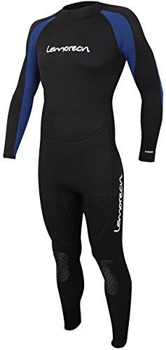Lemorecn Wetsuits Jumpsuit Neoprene 3/2mm Full Body Diving Suit(3031,S)