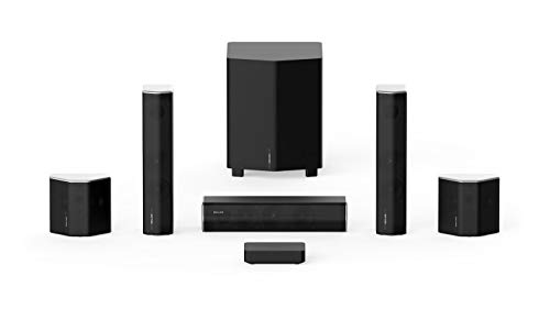 Enclave CineHome II 5.1 Wireless Home Theater Surround Sound System for TV - 24 Bit Dolby Audio, DTS, WiSA Certified - CineHub Edition Bundle - Plug and Play Home Theater Audio