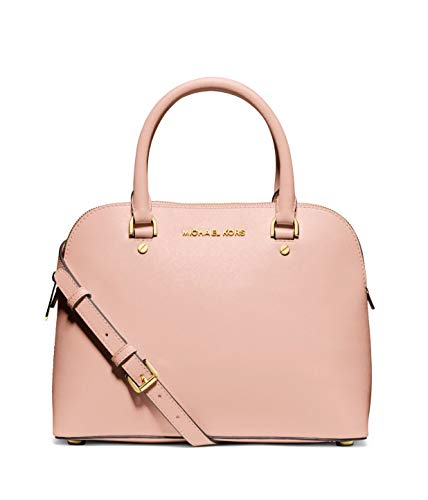 Michael Kors Cindy Medium Saffiano Leather Dome Satchel - Ballet Pink
