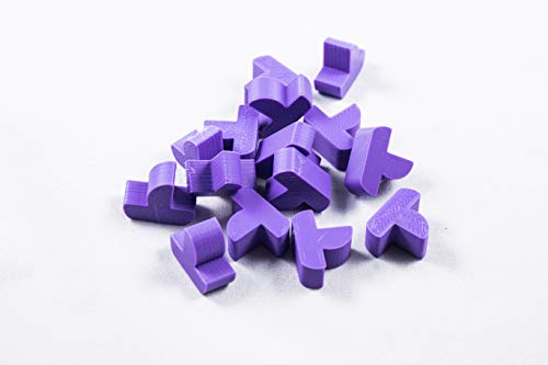 Settlers of Catan Replacement Board Game Pieces - 3D Prints (Purple Ships)