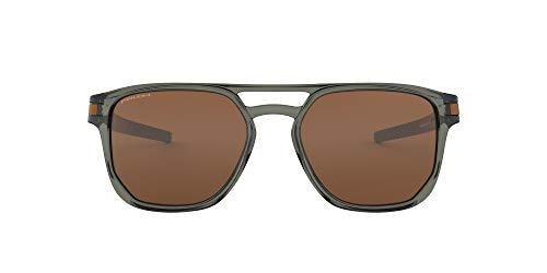 Oakley Men's OO9436 Latch Beta Sunglasses, Olive Ink/Prizm Tungsten, 54 mm