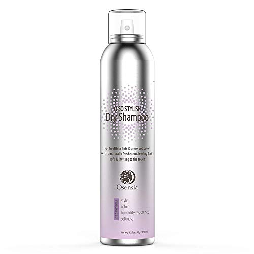 Argan Oil Dry Shampoo for Dark and Blonde Hair - No White Residue - Volumizing Anti Humidity Spray Texturizer - Color Protect - 3.25 Ounces