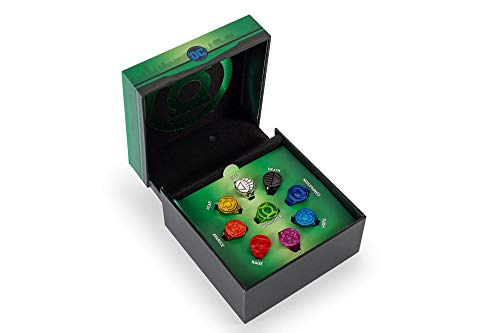 SalesOne LLC DC Comics Green Lantern Power Rings | Lantern Corps Power Rings | 9-Ring Set