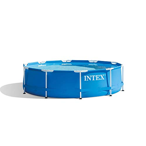 Intex 28200EH 10 Foot x 30 Inch Above Ground Swimming Pool That fits up to 4 People with Easy Set-Up (Pump Not Included)