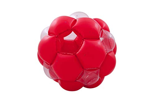 LEXiBOOK PA100 Giant Inflatable Ball, 51', 1 Entry and 1 Exit for Greater Security, Transparent Windows to Improve Visibility, Heavy-Duty, Safe Plastic for Safer Play, Red