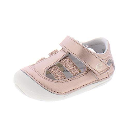 Stride Rite Girl's Soft Motion Aurora Sandal, ROSE GOLD, 3.5 Toddler