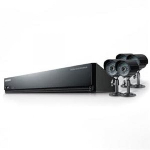 Samsung Security Products SDE-3004 4 Ch. DVR with 4 Security Cam.