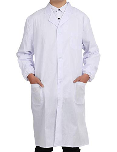 Pinkpum Lab Coat Professionally Designed Unisex White (White, XL)