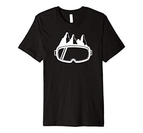 Ski Goggles & Mountains - Apres Ski Skier Ski Vacation Gift Premium T-Shirt