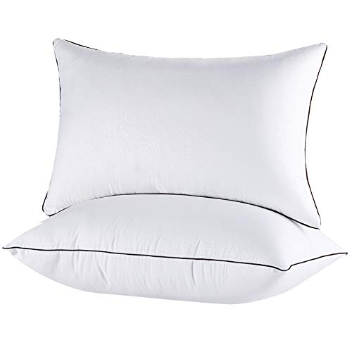 JOLLYVOGUE Bed Pillows for Sleeping 2 Pack, Soft and Supportive Pillows for Side and Back Sleeper, Down Alternative Hotel Quality Sleeping Pillows Set of 2 - Standard Size, 20x26 Inches