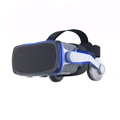3D VR Headset VR Glasses Compatible with iPhone & Android Universal Virtual Reality Goggles for Kids & Adults - Your Best Mobile Games 360 Movies w/Soft & Comfortable, Silver
