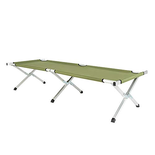 Camping Cot,Portable Folding Camping Bed & Cot,Military Style Cot,Camp Cots for Adults,Outdoor Portable Camp Bed,Heavy Duty Aluminum Sleeping Bed,Easy Cot for Travel/Hunting/Hiking with Carry Bag