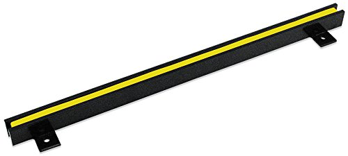 """18"""" Heavy-Duty Magnetic Tool Holder, Easy-Install, 20-lb per inch Pull Force, Black Powder Coat with Yellow Stripe (AM4PLC)"""