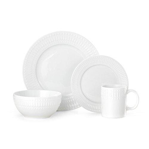 Pfaltzgraff Cassandra 16-Piece Porcelain Dinnerware Set, Service For 4