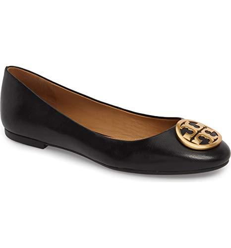 Tory Burch Womens Benton Nappa Leather Ballet Flat Perfect Black 006 (Medium)
