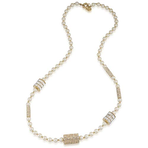 Carolee LUX 'Life Of The Party' Pave and Pearl Tone Strandage Necklace, 32'