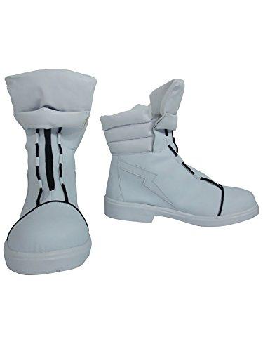 YuanCos Kill la Kill Ryuko Matoi Girls White Halloween Short Cosplay Shoes Boots (Female US 8/EU39)