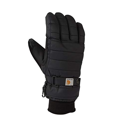 Carhartt Women's Quilts Insulated Breathable Glove with Waterproof Wicking Insert, Black, Medium