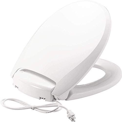 BEMIS Radiance Heated Night Light Toilet Seat will Slow Close and Never Loosen, ROUND, Long Lasting Plastic, White, H900NL 000
