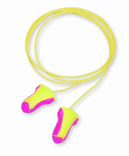 Howard Leight by Honeywell Laser Lite High Visibility Disposable Foam Earplugs, 100-Pairs, Pink/Yellow, LL-30