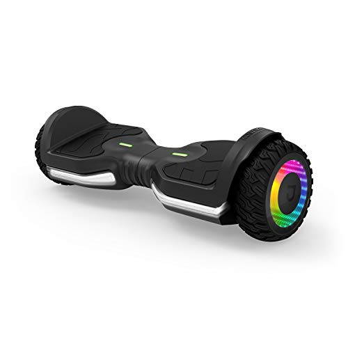 Jetson Flash Self Balancing Hoverboard with Built In Bluetooth Speaker   Includes All Terrain Tires, Reach Speeds up to 10 MPH   Range of Up to 12 Miles, Ages 13+, JFLASH-BB, Black