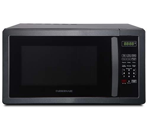 Farberware Classic FMO11AHTBSB 1.1 Cu. Ft. 1000-Watt Microwave Oven, Black Stainless Steel