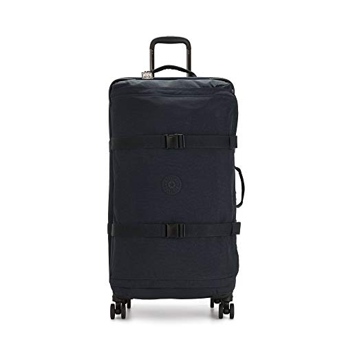 Kipling Spontaneous Softside Spinner Wheel Luggage, Blue Bleu, Checked-Large 31-Inch