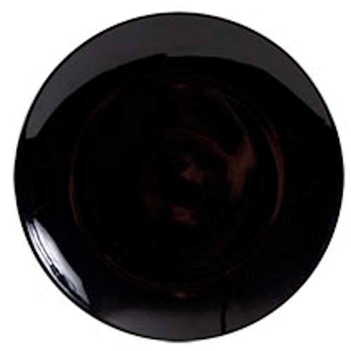 Royal Norfolk Classic Stoneware Dinner Plate, Black, 10½' W x 12