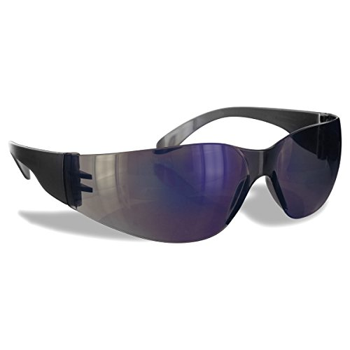 Rugged Blue Diablo Safety Glasses Pack of 12 (Blue Mirror)