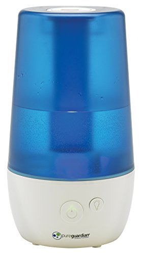 Pure Guardian H965AR Ultrasonic Cool Mist Humidifier, 70 Hrs. Run Time, 1 Gal. Tank Capacity, 320 Sq. Ft. Coverage, Small Rooms, Filter Free, Treated Tank Resists Mold, Includes Essential Oil Tray