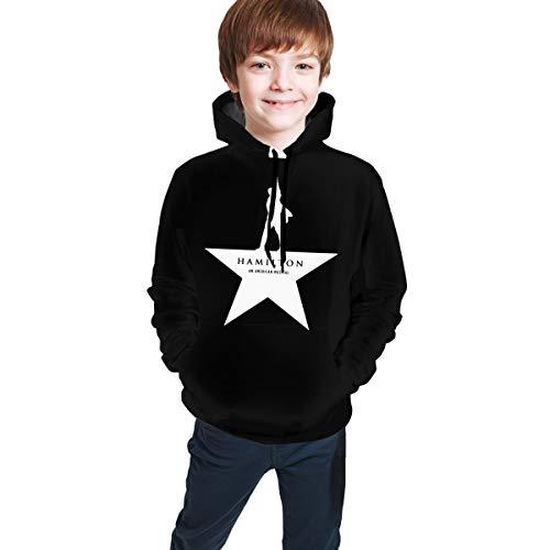 FREDDIE-ADAMS Musicals Hamilton Novelty Youth Hoodie Sweatshirts Trend for Teens, 7, 10-12 Years