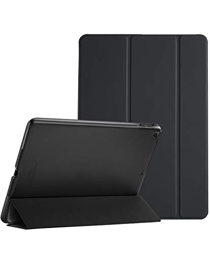 ProCase iPad 9.7 Case (Old Model) 2018 iPad 6th Generation / 2017 iPad 5th Generation Case - Ultra Slim Lightweight Stand Case with Translucent Frosted Back Smart Cover for iPad 9.7 Inch –Black