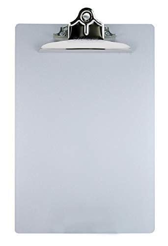 Saunders Aluminum Clipboard with Clip, 8.5 x 12 in