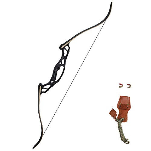 SinoArt 62' Takedown Hunting Recurve Bow Metal Riser 30 35 40 45 50 55 60 65 70 Lbs Right Handed (30 Lbs)