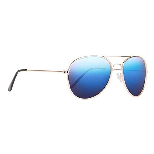 NECTAR Classic Gold Metal Sunglasses with Blue Polarized Lenses & UV Protection - The Maverick (Apollo)