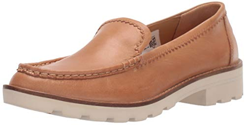 Sperry Womens A/O Lug Loafer Leather Loafer, Tan, 8.5