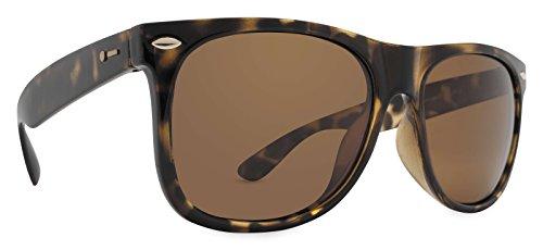 Dot Dash Kerfuffle Adult Sunglasses, Tortoise Satin/Bronze Polarized One Size