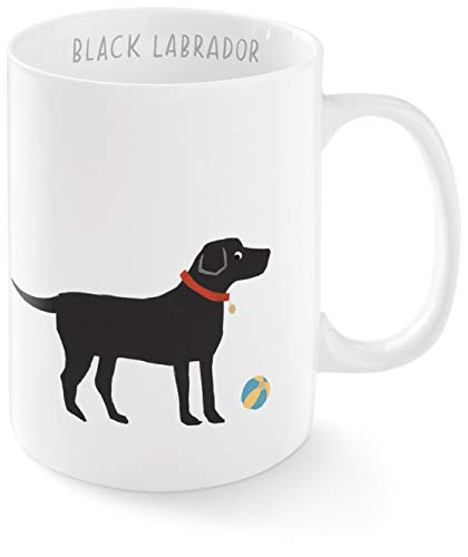FRINGE STUDIO Happy Black Lab Mug, 12 liquid ounces (384091)