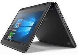 Black Flip design Lenovo 11.6-inch Touchscreen 2-in-1 Business Laptop, Intel Celeron N3060, 4GB Memory, 32GB eMMC, Webcam, Wifi, Bluetooth, Windows 10 Professional (PC) (Renewed)
