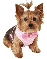 Simply Wag Lulu Pink Quilted Dog Harness MEDIUM