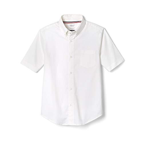 French Toast Little Boys' Toddler Short Sleeve Oxford Dress Shirt, White, 3T