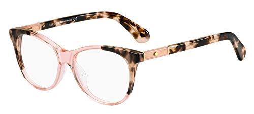Kate Spade JOHNNA Plastic Round Eyeglasses, Pink Havana, Medium