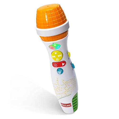 Kidzlane Karaoke Microphone for Kids with Bluetooth, Kids Singing Toy Microphone for Babies and Toddlers, Voice Changer and 10 Built-in Nursery Rhymes