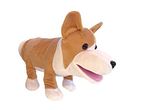 Cute Plush Corgi Hand Puppet Puppy Toy - Stuffed Animal Toy for Puppy Wrestling