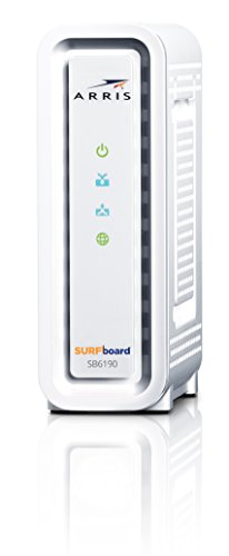 ARRIS Surfboard SB6190-RB DOCSIS 3.0 Cable Modem, White (Renewed)